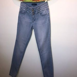 Blue Spice high waisted light wash jeans